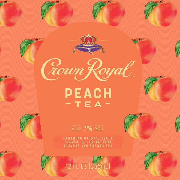 Crown Royal Peach Tea Canned Cocktail 4pk - Available at Wooden Cork