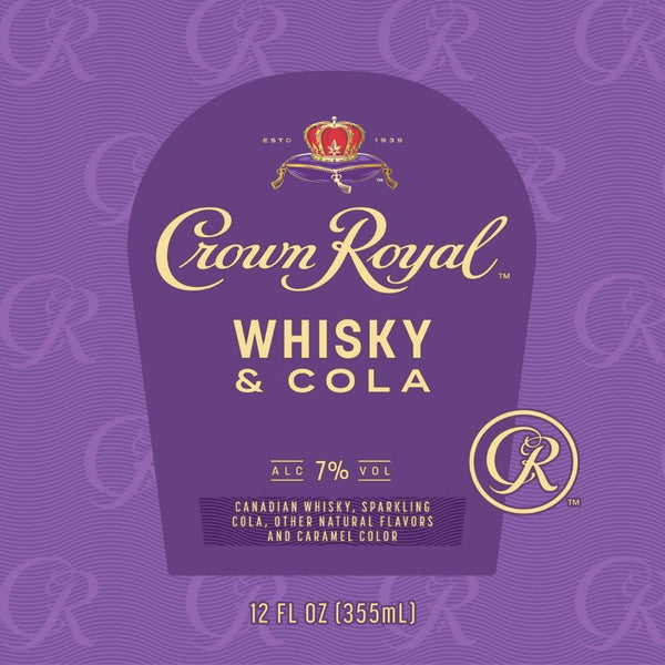 Crown Royal Whiskey & Cola Canned Cocktail 4pk - Available at Wooden Cork