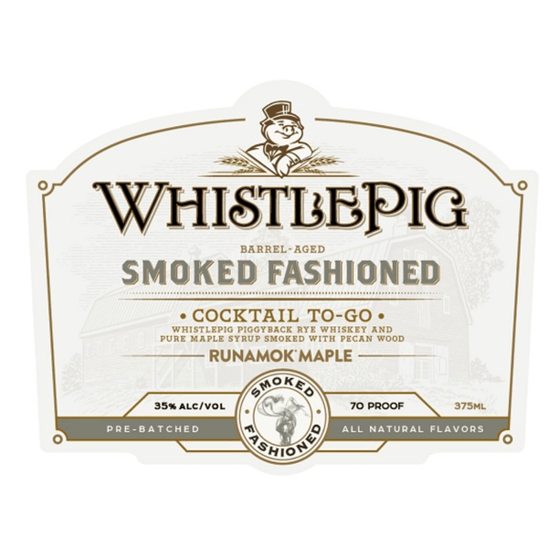 WhistlePig Smoked Fashioned Cocktail To-Go 375ml - Available at Wooden Cork