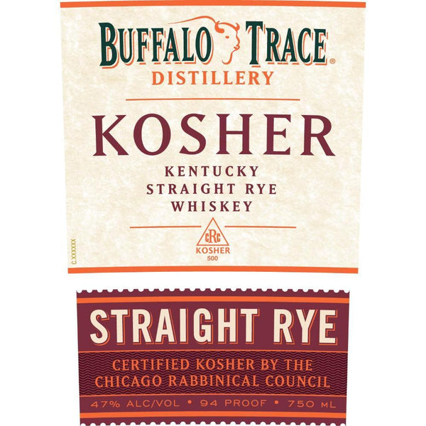 Buffalo Trace Kosher Straight Rye Whiskey - Available at Wooden Cork