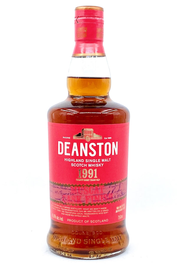 Deanston 28 Year Old Vintage 1991 Single Malt Scotch Whisky - Available at Wooden Cork