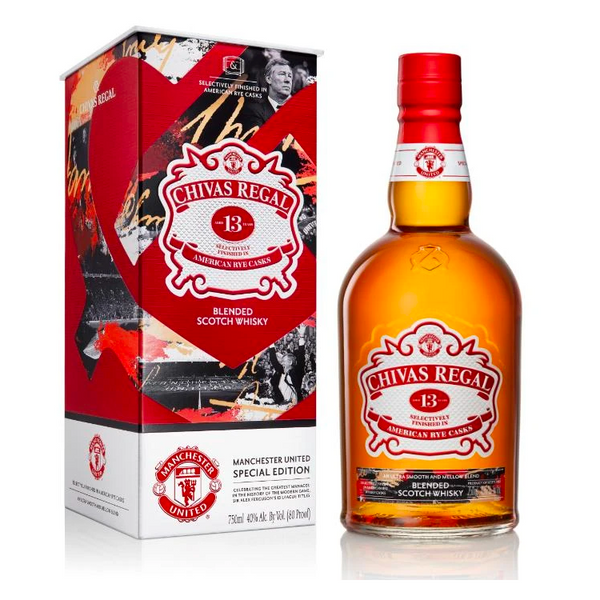 Chivas Regal 13 Year Old Manchester United Special Edition - Available at Wooden Cork