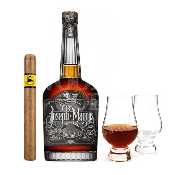 Joseph Magnus Bourbon with Glencairn Set & Cigar Bundle - Available at Wooden Cork