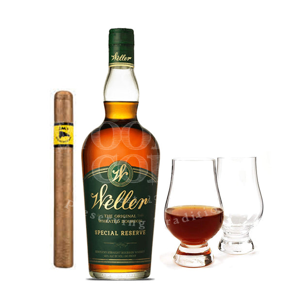 W.L. Weller Special Reserve with Glencairn Set & Cigar Bundle - Available at Wooden Cork
