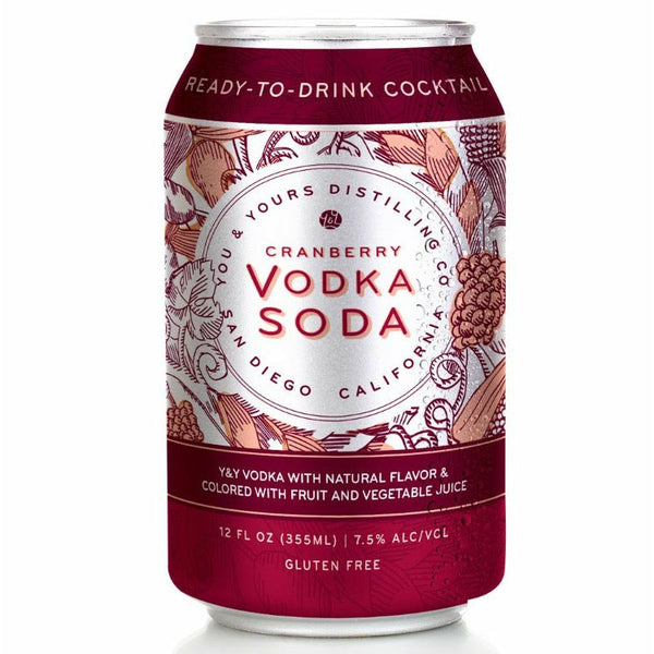 You & Yours Cranberry Vodka Soda Ready To Drink Canned Cocktails 4pk - Available at Wooden Cork