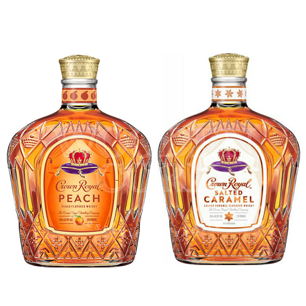 Crown Royal Peach & Salted Caramel Bundle - Available at Wooden Cork