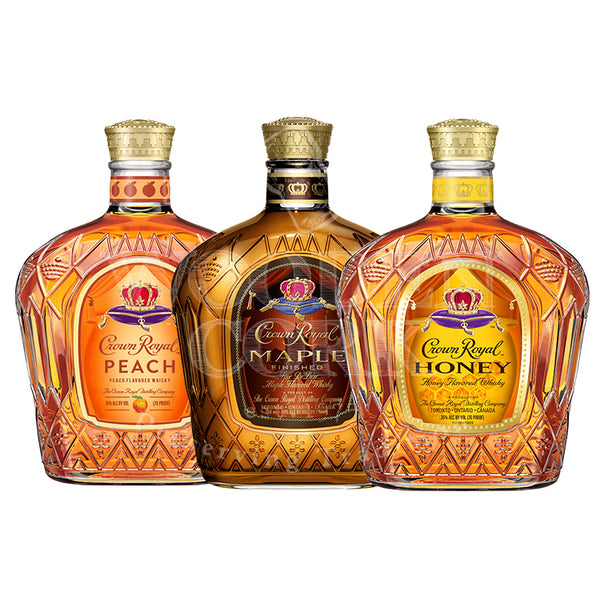 Crown Royal Peach, Honey & Maple Bundle - Available at Wooden Cork