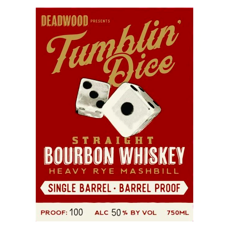 Deadwood Tumblin Dice Bourbon 4 Year Old Single Barrel Barrel Proof - Available at Wooden Cork