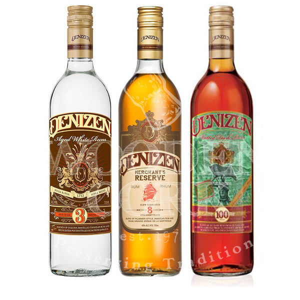 Denizen White, Denizen Merchant's Reserve, Denizen Vatted Dark Rum Bundle - Available at Wooden Cork