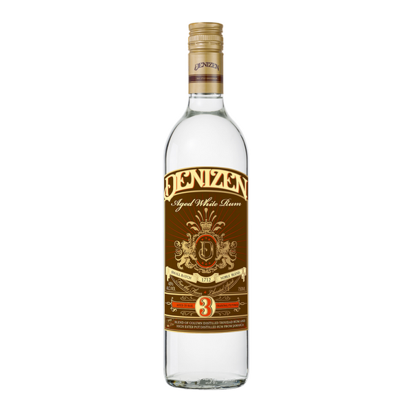Denizen Aged White Rum 3 Year Old - Available at Wooden Cork