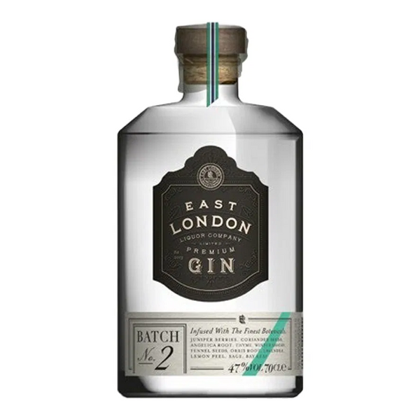 East London Liquor Company Premium Gin Batch No. 2 - Available at Wooden Cork
