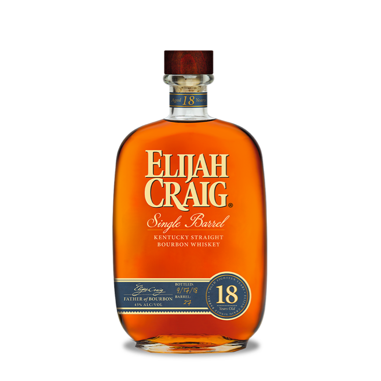 Elijah Craig 18-Year-Old Single Barrel - Available at Wooden Cork
