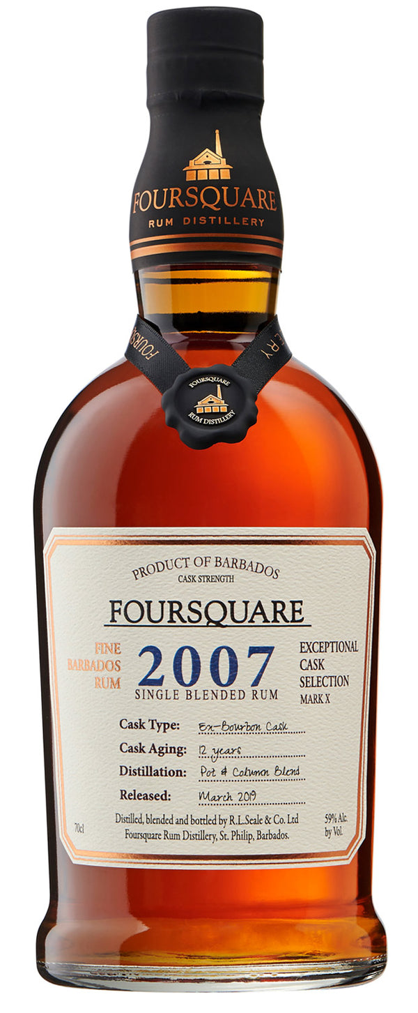 "Foursquare Mark X ""2007"" Single Blended 12 Year Rum - Available at Wooden Cork"