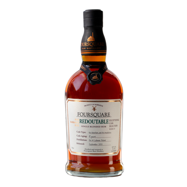 Foursquare Distillery 14 Years Old Redoutable Madeira Bourbon Exceptional Cask Selection Mark XV Single Blended Rum - Available at Wooden Cork