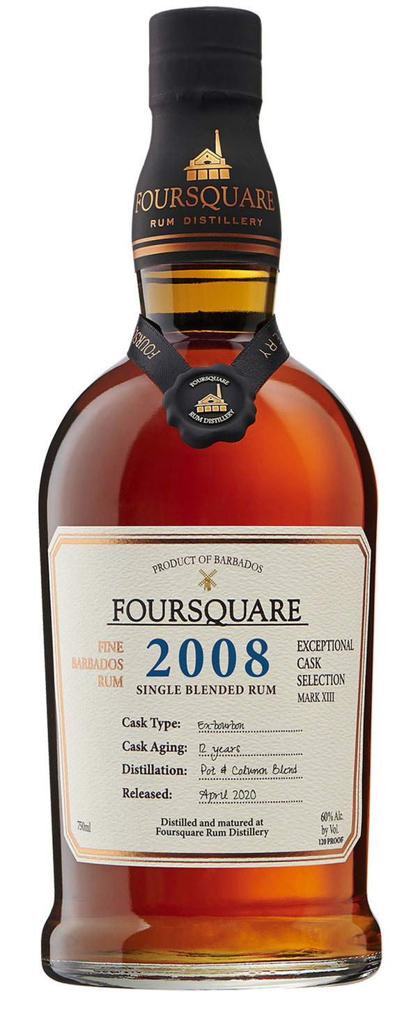 "Foursquare Mark XIII ""2008"" Single Blended 12 Year Rum - Available at Wooden Cork"