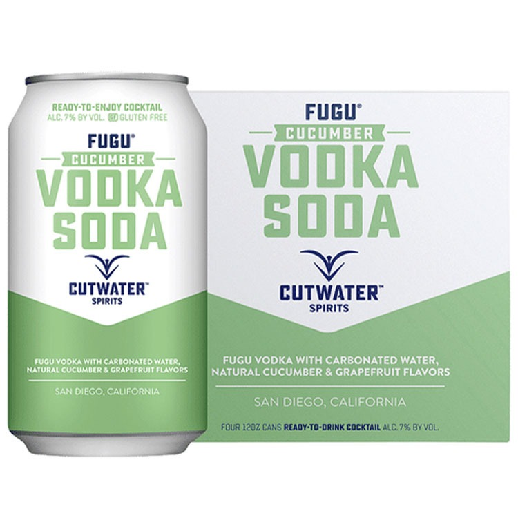 Cutwater Fugu Cucumber Vodka Soda - Available at Wooden Cork
