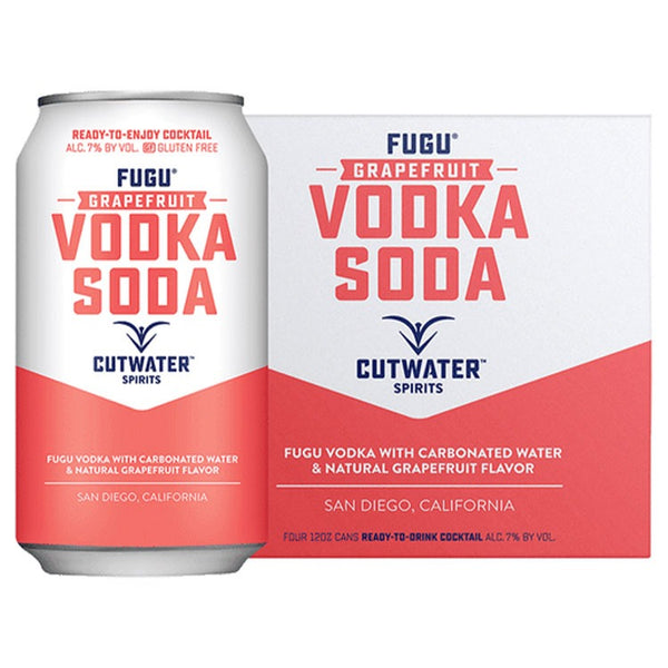 Cutwater Fugu Grapefruit Vodka Soda - Available at Wooden Cork