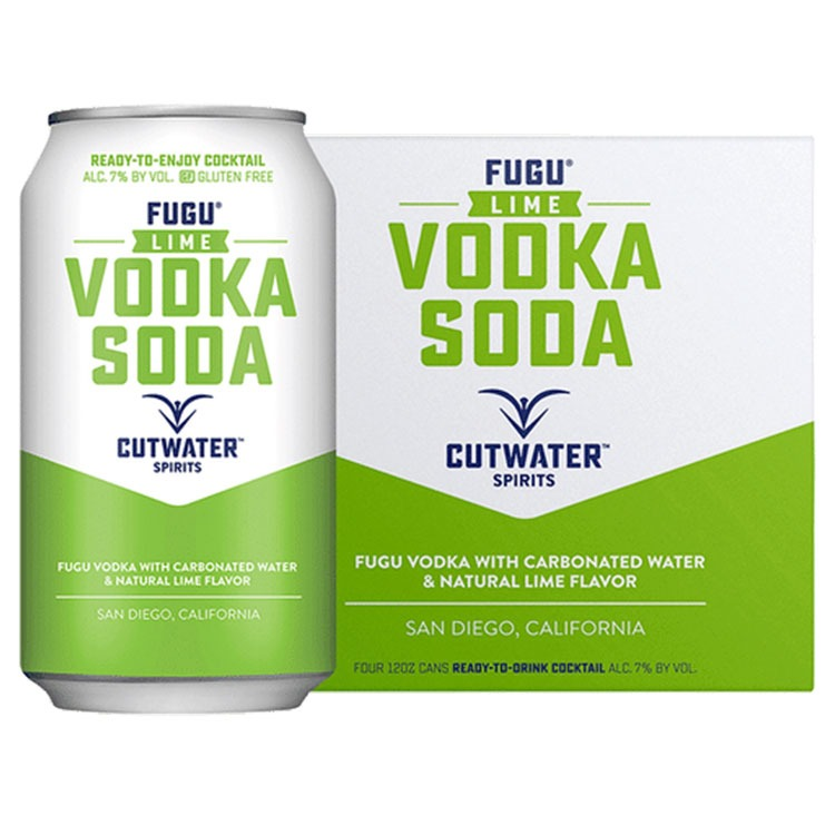 Cutwater Fugu Lime Vodka Soda - Available at Wooden Cork