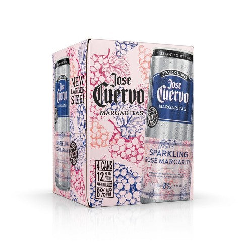 Jose Cuervo Sparkling Rosé Margarita Canned Cocktail 4pk - Available at Wooden Cork