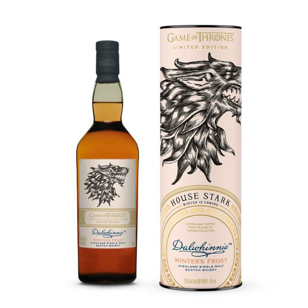 Game of Thrones House Stark Dalwhinnie Winter's Frost Scotch Whisky  Game Of Thrones