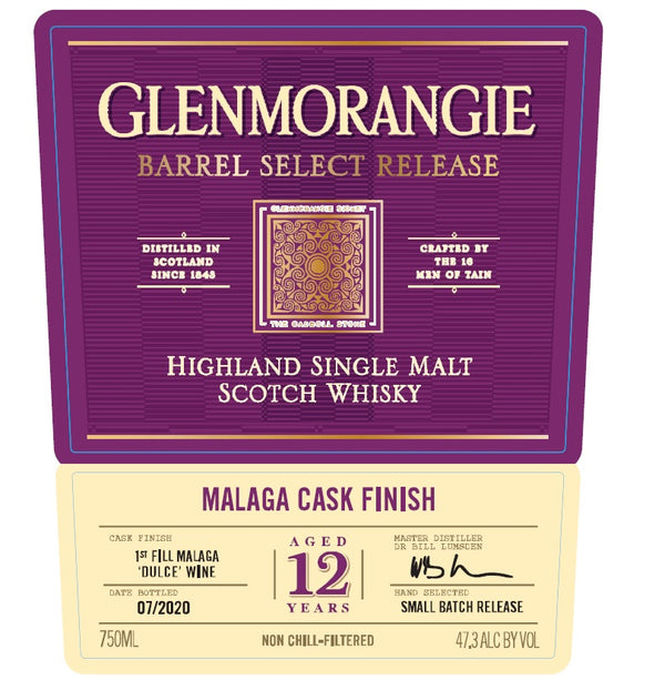 Glenmorangie 12 Year Malaga Cask - Available at Wooden Cork