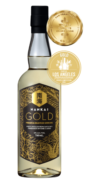 Nankai Gold Premium Blended Shochu - Available at Wooden Cork
