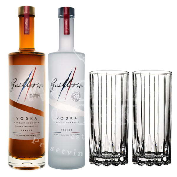 Guillotine Heritage & Originale Vodka with Glass Set Bundle - Available at Wooden Cork