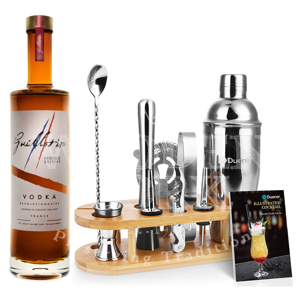 Guillotine Heritage Vodka with Bartender Kit Bundle - Available at Wooden Cork