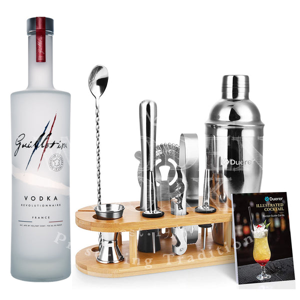 Guillotine Originale Vodka with Bartender Kit Bundle - Available at Wooden Cork