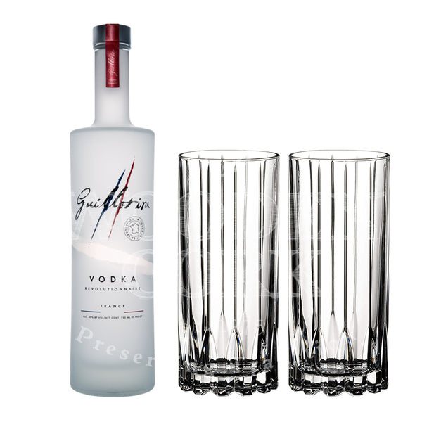 Guillotine Originale Vodka with Glass Set Bundle - Available at Wooden Cork