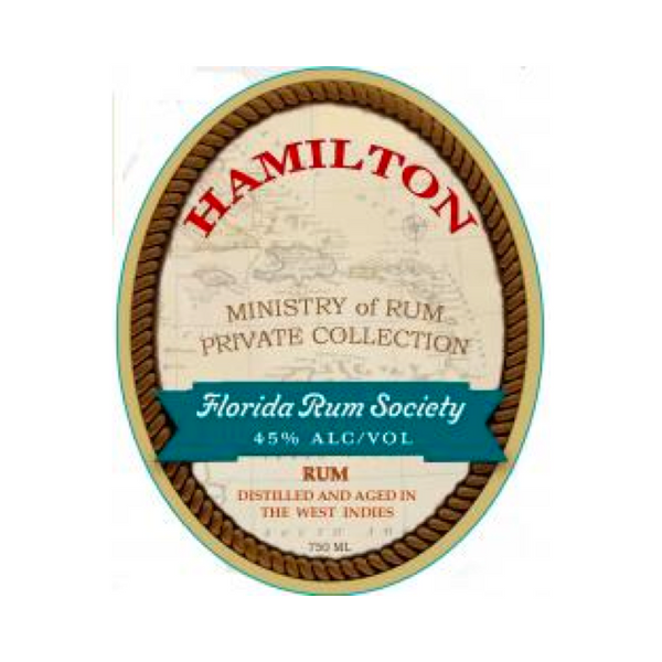 Hamilton Florida Rum Society - Available at Wooden Cork