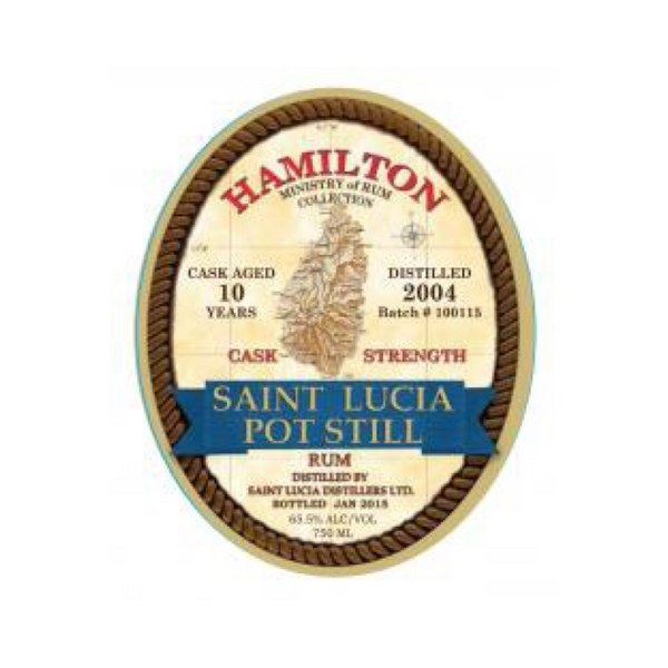 Hamilton St. Lucia Cask Strength 10 Year Old Rum - Available at Wooden Cork