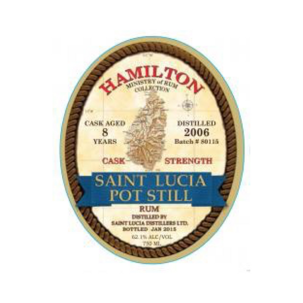 Hamilton St. Lucia Cask Strength 8 Year Old Rum - Available at Wooden Cork