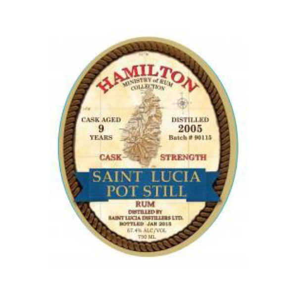 Hamilton St. Lucia Cask Strength 9 Year Old Rum - Available at Wooden Cork