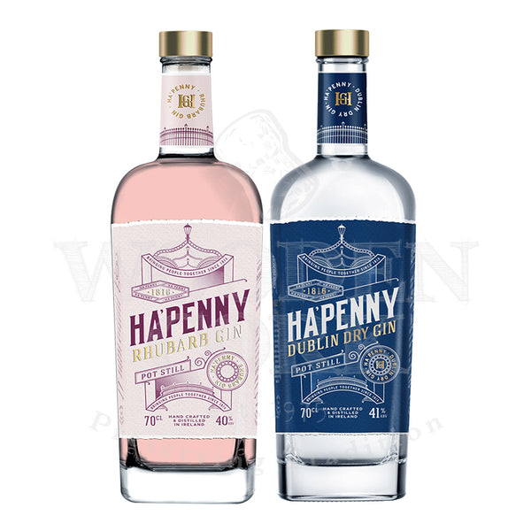 Ha'Penny Rhubarb & Dublin Dry Gin Bundle - Available at Wooden Cork