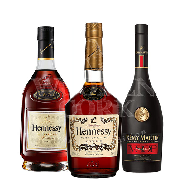 Hennessy Cognac & Hennessy VSOP & Remy Martin VSOP Bundle - Available at Wooden Cork