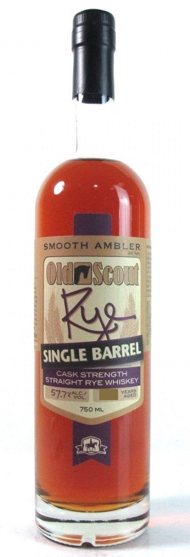 Smooth Ambler Old Scout Single Barrel Cask Strength Rye - Available at Wooden Cork