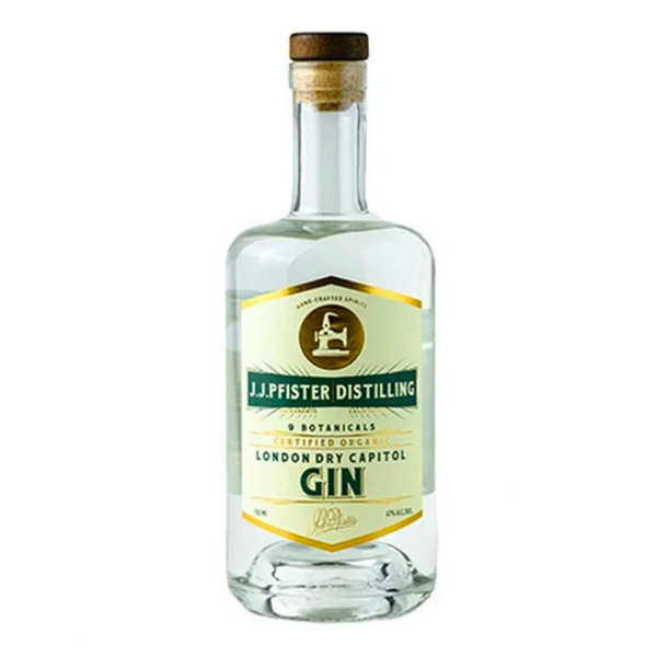 J.J. Pfister Distilling London Dry Capitol Gin - Available at Wooden Cork