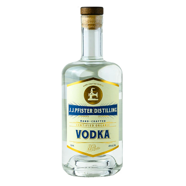 J.J. Pfister Distilling Potato Vodka - Available at Wooden Cork