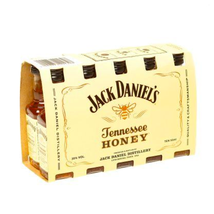 Jack Daniel's Honey Whiskey 50ml 10 Pack - Available at Wooden Cork