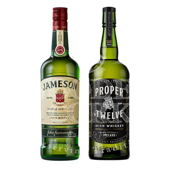 Jameson Irish Whiskey & Proper Twelve Whiskey Bundle - Available at Wooden Cork