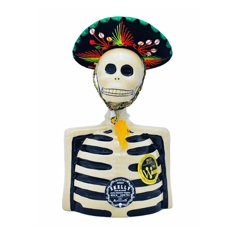 Los Azulejos Skelly Tequila Anejo - Available at Wooden Cork