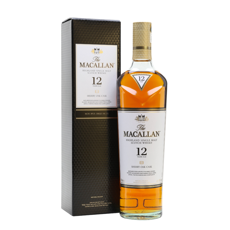 The Macallan 12 Year Old Sherry Oak - Available at Wooden Cork