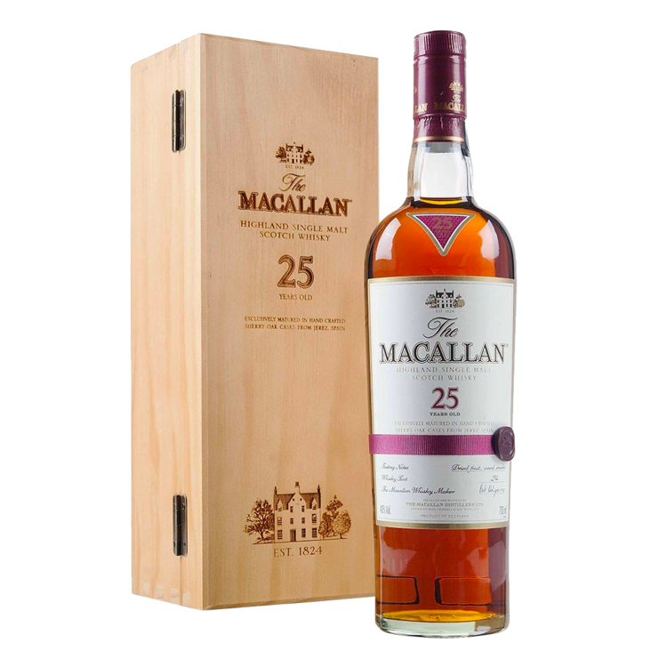 The Macallan 25 Year - Available at Wooden Cork