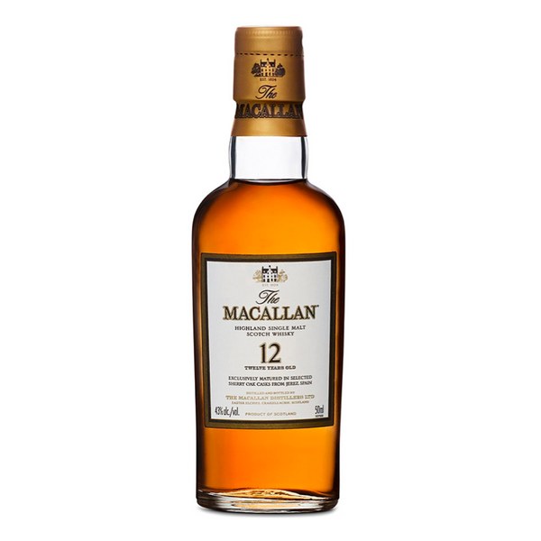 Macallan 12 Year Sherry Oak Scotch Shot 50ml 4 Pack - Available at Wooden Cork