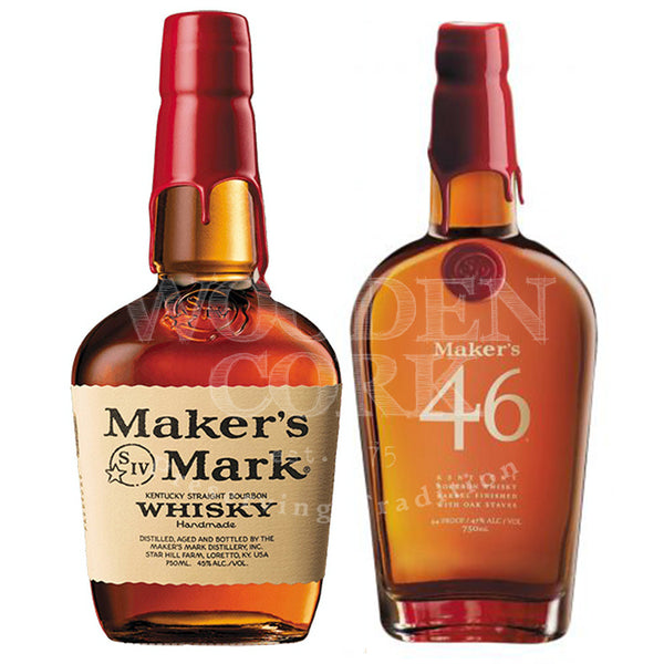 Maker's Mark Bourbon & Maker's Mark 46 Bundle - Available at Wooden Cork
