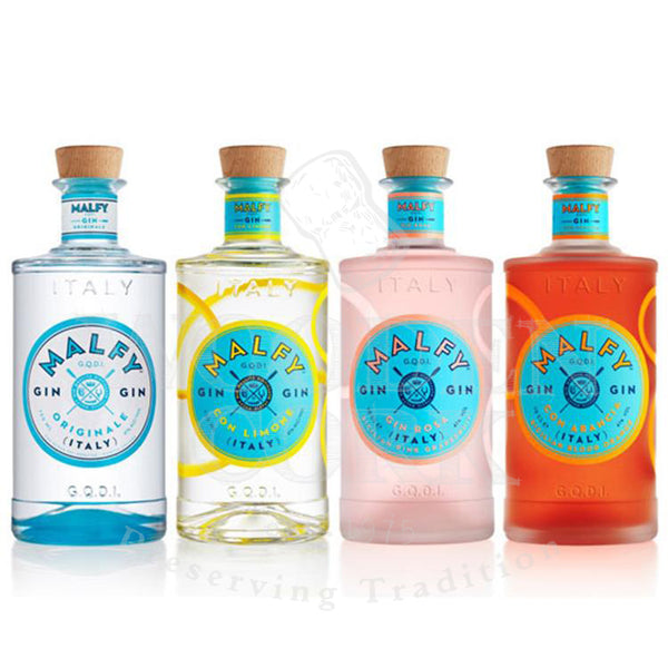 Malfy Originale, Limone, Rosa & Arancia Gin Bundle - Available at Wooden Cork