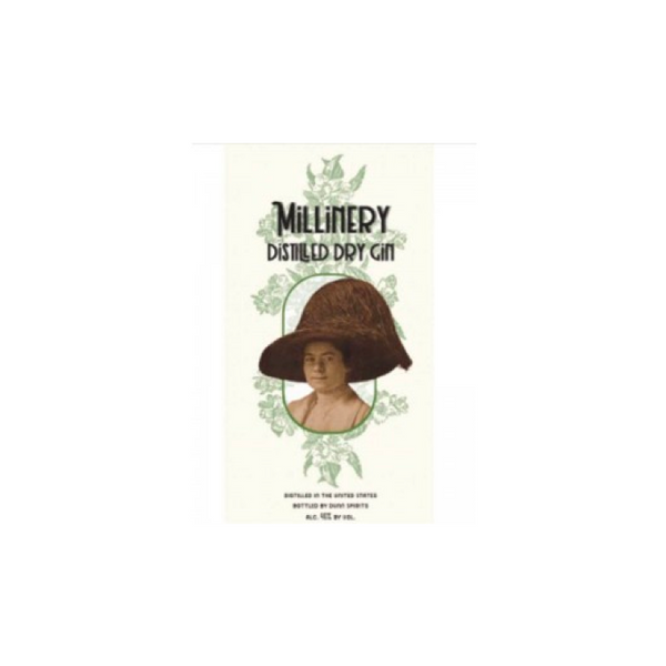 Millinery Distilled Dry Gin - Available at Wooden Cork