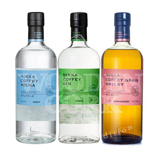 Nikka Coffey Vodka, Coffey Gin and Coffey Grain Whiskey Bundle - Available at Wooden Cork