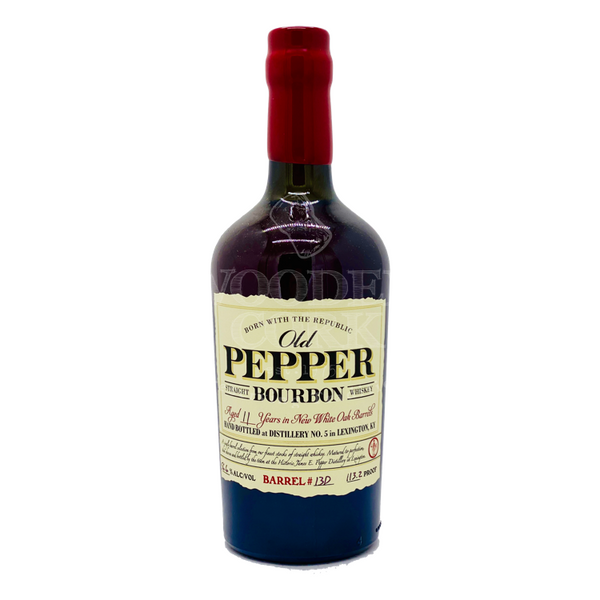 Old Pepper 11 Year Old Single Barrel Bourbon - Available at Wooden Cork